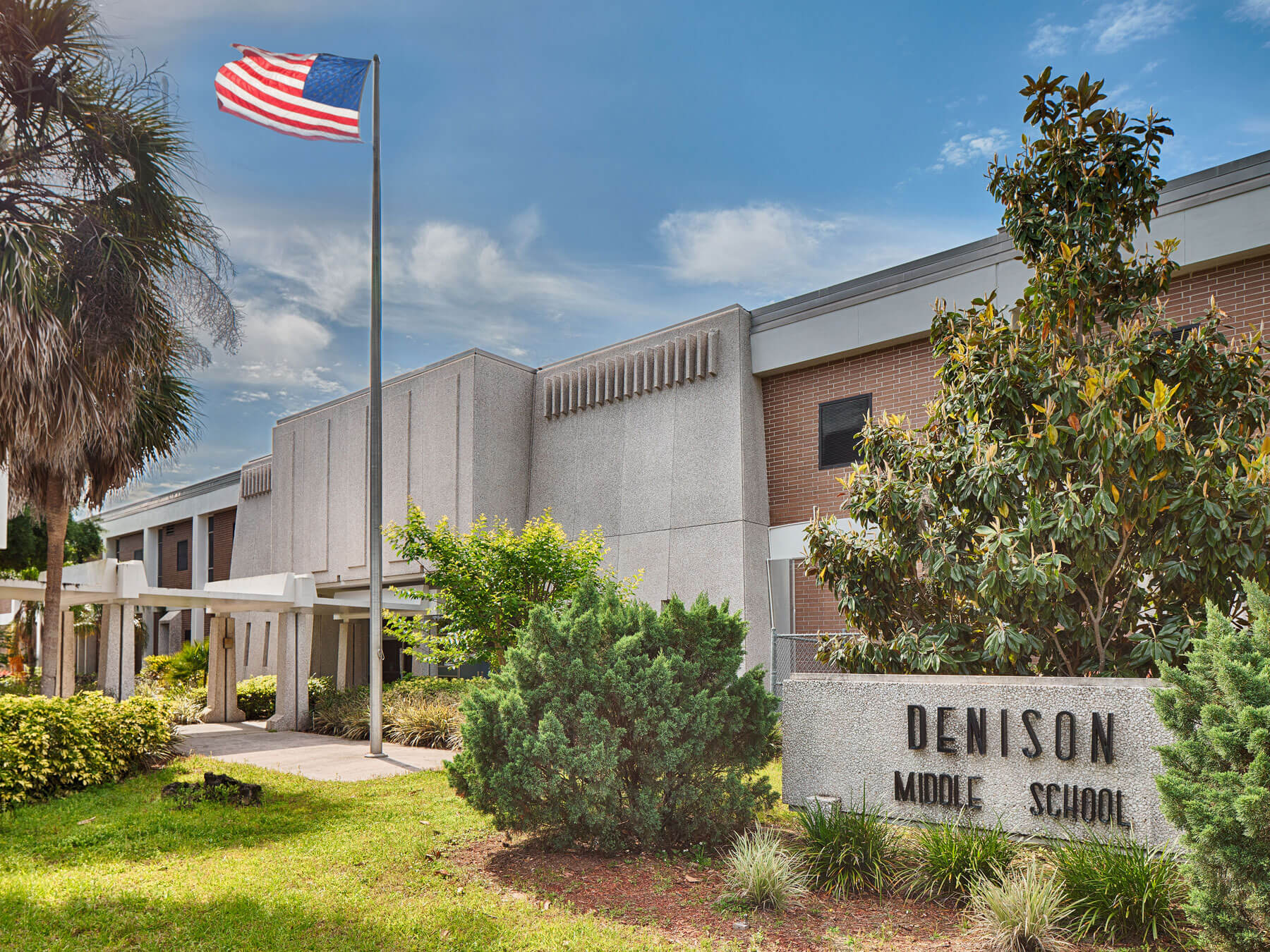 Front of Denison Middle School in Winter Haven, Florida.